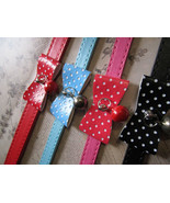 bow collars - mixed colors dog pet collar  - $0.00