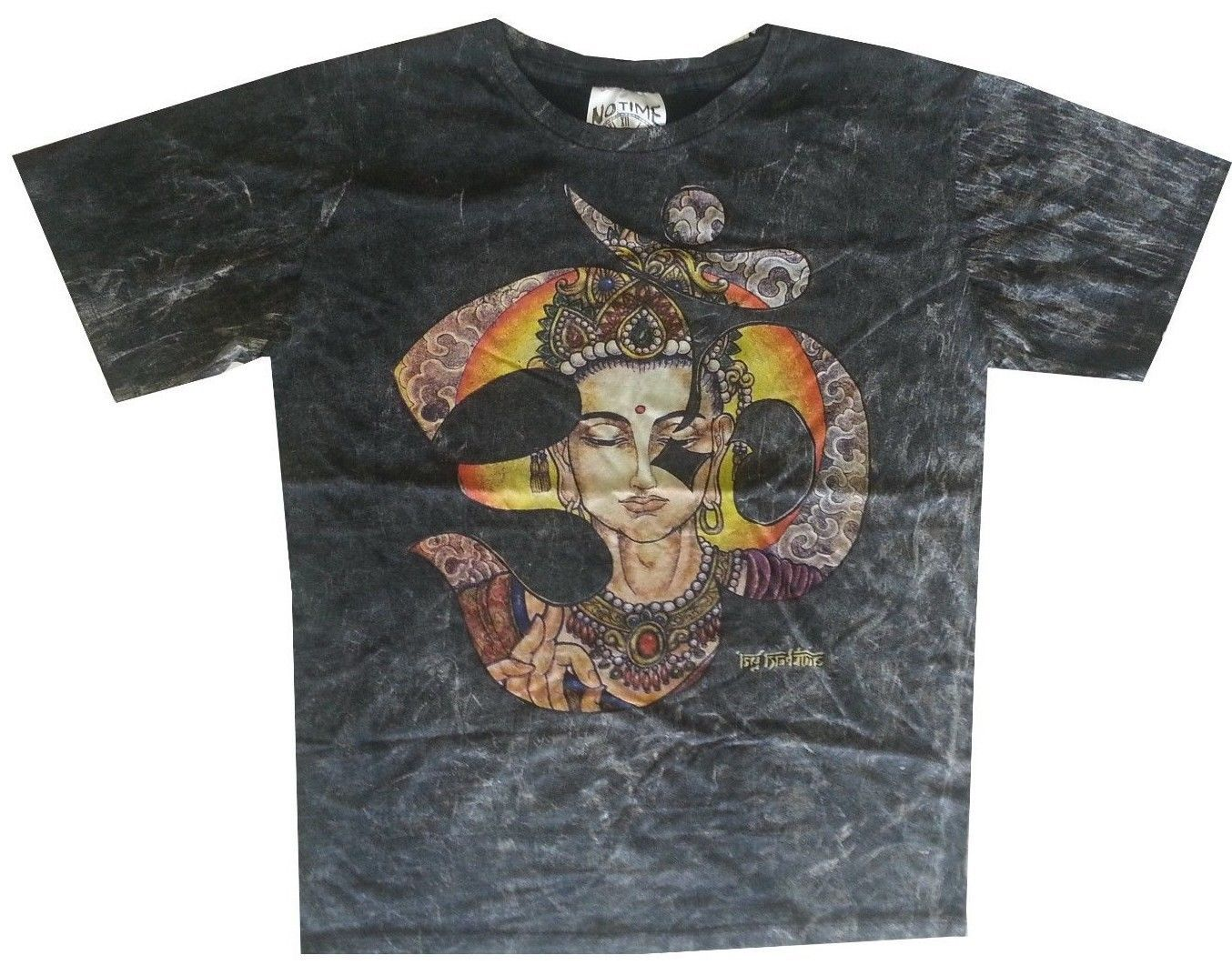 Primary image for Dd3 Men T Shirt Om AUM BUDDHA YOGA NIRVANA Zen HIPPIE Peace Hobo boho m NO TIME