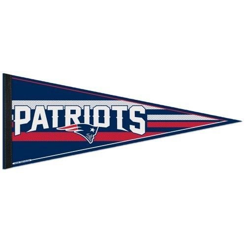 "BIG NEW ENGLAND PATRIOTS TEAM FELT PENNANT 12""X 30"" NFL FOOTBALL SHIPS FLAT!"
