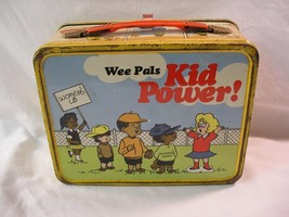 Vintage 1973 Wee Pals Kid Power Metal Lunch Box No Thermos Early Womens Lib - $22.91