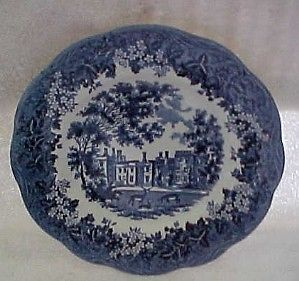 Primary image for MERRIE ENGLAND BLUE & WHITE IRONSTONE  J.G. MEAKIN SALAD,BREAD OR DESERT PLATES