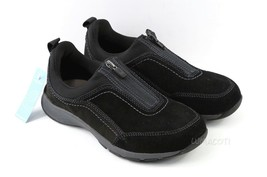 Womens Easy Spirit Cave Walking Sneakers - Black Suede Size 6WW - £63.21 GBP