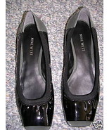 Nine West Black Patent RENISE Flat Shoe 7M NEW $80 - $35.64