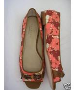 TALBOTS Canvas Peep Toe Bamboo Detail Flat Sandal 9 M NWOB - $54.45