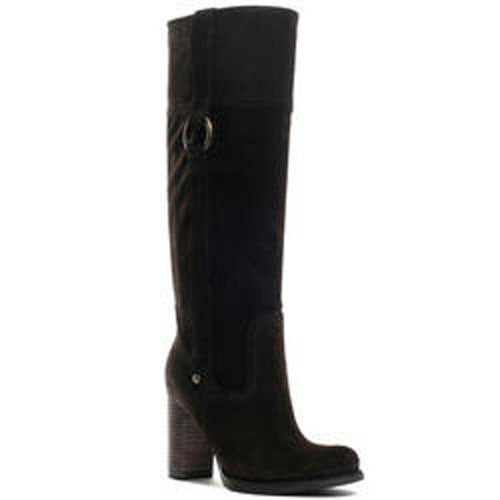 Primary image for Guess Black Suede JASANA Ladies Tall Boot NEW 10M