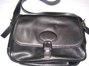 Primary image for COACH Vintage BLACK Leather Shoulder Purse Bag Tote