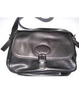 COACH Vintage BLACK Leather Shoulder Purse Bag Tote - $79.20