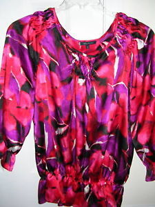 Primary image for Anne Klein Freshberry Red Blouse 3/4 Sleeves Medium M NWT