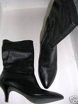 Vince Camuto Black Leather TAMIA 2 Boots NEW 8.5M 38.5 - $143.55
