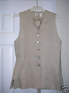 Primary image for EXPRESS Ladies Casual Botton Down Sleeveless Top BEIGE XS NWT