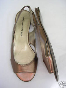 Primary image for DVF Diane Von Furstenberg BRONZE Leather Slingback Sandal 6 Medium NWOB