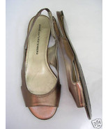 DVF Diane Von Furstenberg BRONZE Leather Slingback Sandal 6 Medium NWOB - $148.50