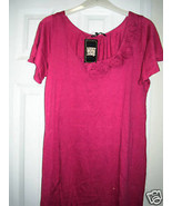 Lucky Brand Jeans Pink Rose Trim Knee Length Dress Large NWT - $49.50
