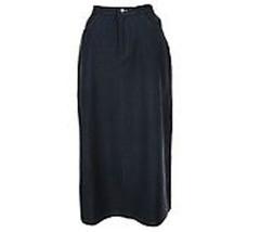Nina Leonard Womens A-Line Black Skirt Size 8 NWOT - $28.71