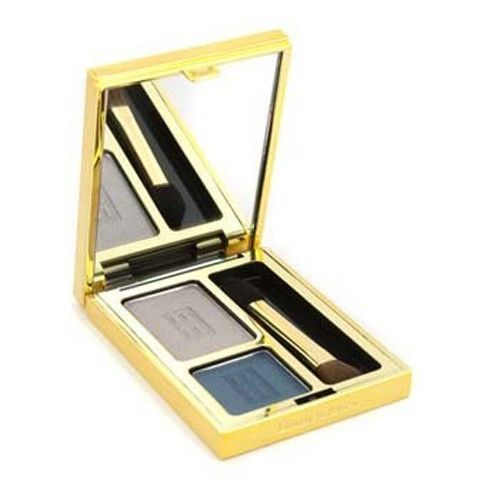 Primary image for Elizabeth Arden Beautiful Color Eye Shadow Duo 06 MISTY TEAL  Full Size NWOB