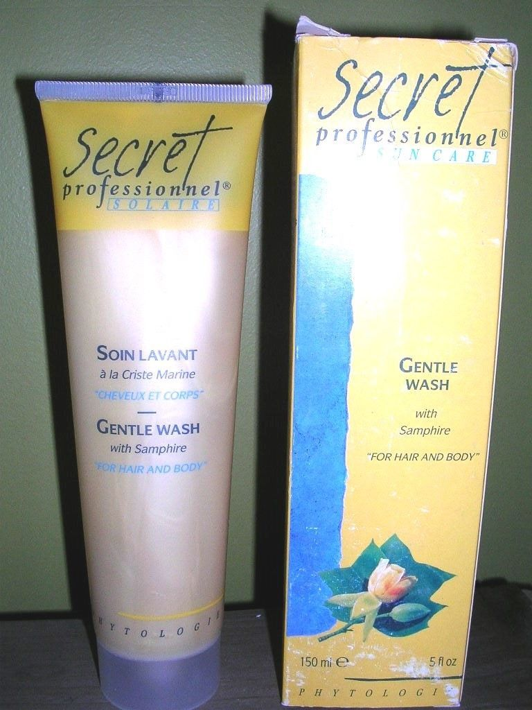 Phyto Secret Professionnel Sun Care Gentle Wash Soap Shampoo Hair & Body 5oz NIB