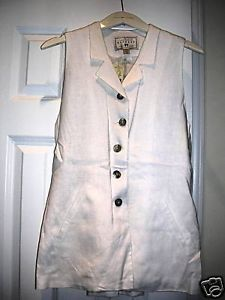Primary image for EXPRESS Ladies Casual Botton Down Sleeveless Top WHITE  XS NWT