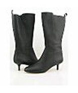 DKNY Black Leather BELLAMI Mid Calf Boots 8 M Medium NIB - $173.25