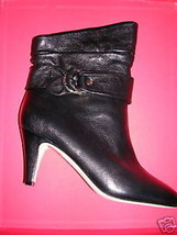 Dkny Black Leather Delores Ankle Boot 8 M Nib - $167.31