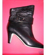 DKNY Black Leather DELORES Ankle Boot 8M NIB - $167.31