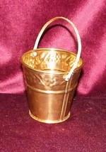 Vintage Embossed Brass Basket Easter Light Pati... - $4.80
