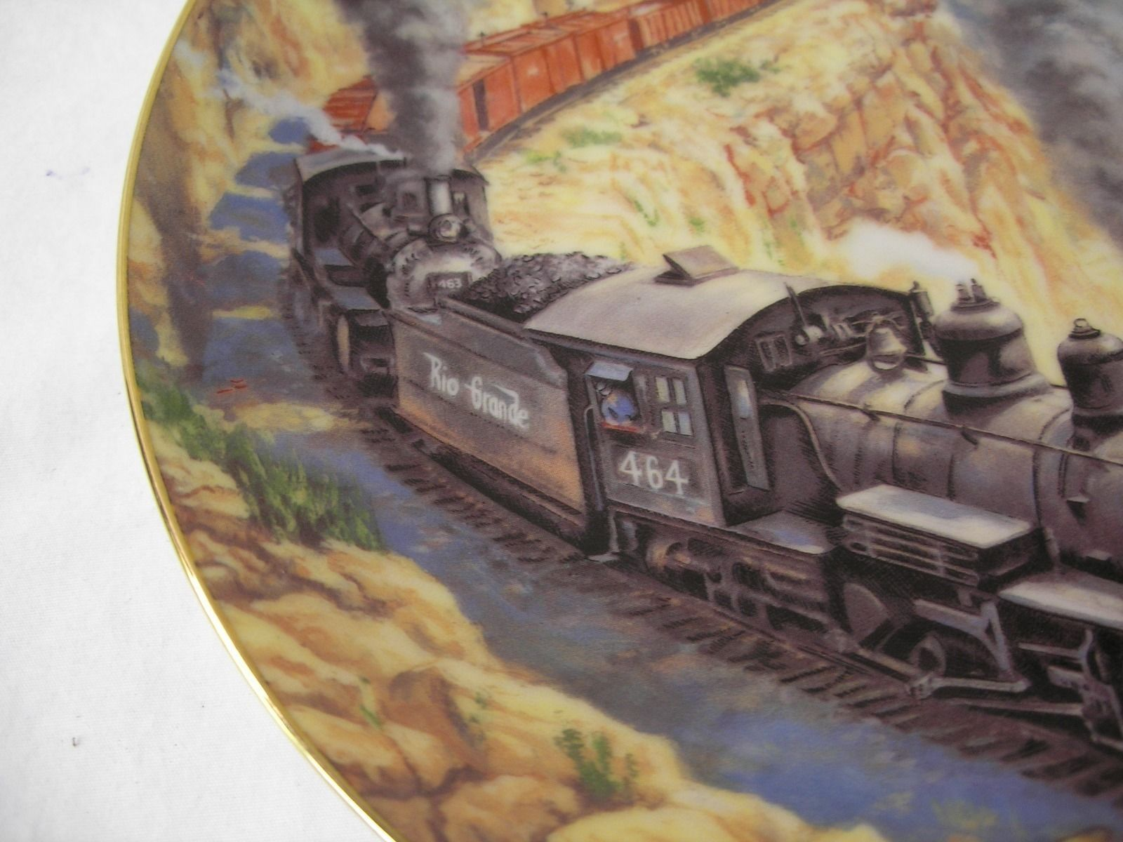 1991 Above the Canyon The Golden Age of American Railroads Collectors Plate USA