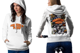 halloween monsters Womens White Classic Hoodie - $30.99+