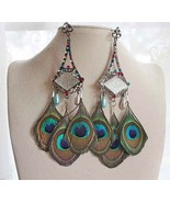 One-of-a-kind Peacock Earrings - $32.00