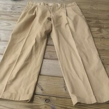 Brooks Brothers Pants 35x30 Tan  Front Chino  Cotton - $13.86