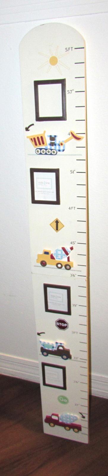Kids Line Heavy Duty Work Trucks Growth Chart