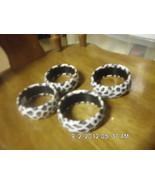 Lot of 4 White Leopard Spotted Bangle Bracelets - $9.99