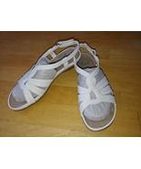 YUU ALOTTIE LADIES WHITE SLING-BACK STRAPPY SANDALS-WORN ONCE-9M-NON-SLI... - $9.99