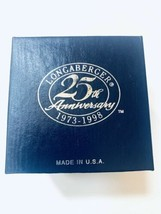 Longaberger Christmas Ornament 25th Anniversary silver in box see descri... - $24.49
