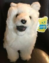 Dakin Pillow Pets White Husky Wolf Dog Vintage 1977 With Tags Korea Euc Muckluck - $99.99