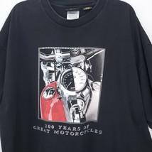 Harley Davidson Mens Shirt Size 2XL 100 Years Motorcycles Black T-Shirt - $13.49