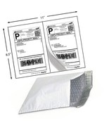 30 Shipping Labels Self Adhesive + 30 Poly Bubble Mailers Padded Envelop... - $18.69