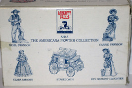 5 Pewter Figures AH48 MIB 1994 LIBERTY FALLS Stagecoach Smoots Swanson W... - $15.00