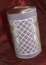 Tzedakah Box Tzdakah Charity Round Plastic Decorated Purple New image 3