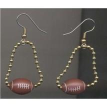 Funky FOOTBALL CHAIN EARRINGS - Player Coach Sports BEAD Charm Costume J... - $6.97