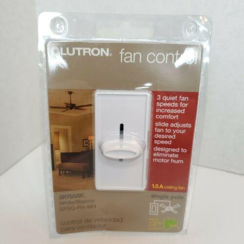 Lutron Skylark SFSQ-FH-WH White 3-Speed Fan Control For 1.5A Ceiling Fan - NEW - $18.38