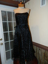 ABS Evening size 4 Black Mid Calf Cocktail Cruise Party Pageant dress EUC  - $29.99