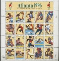 Stamps USPS Scott 3068 Sheet MNH 1996 Atlanta Centennial Summer Olympics... - $11.87
