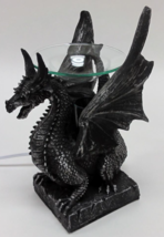 Sitting Poly Resin Dragon with Black Horns Oil Warmer - $29.95