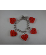 BrickCrafts LEGO® Fashion Red Heart Charm Bracelet with Toggle Clasp - $14.95
