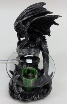 Black Dragon With Skull Polyresin Electric Oil Warmer  - $29.95