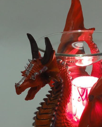 Red dragon poly resin electric oil warmer incense burners - Dragon oil warmer ...