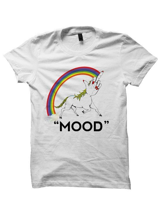 Primary image for Unicorn T-Shirts MOOD  T-Shirts Funny Shirts Rainbow Shirts #Unicorn #MOOD