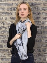 Horse Pattern Scarf Grey - $16.90