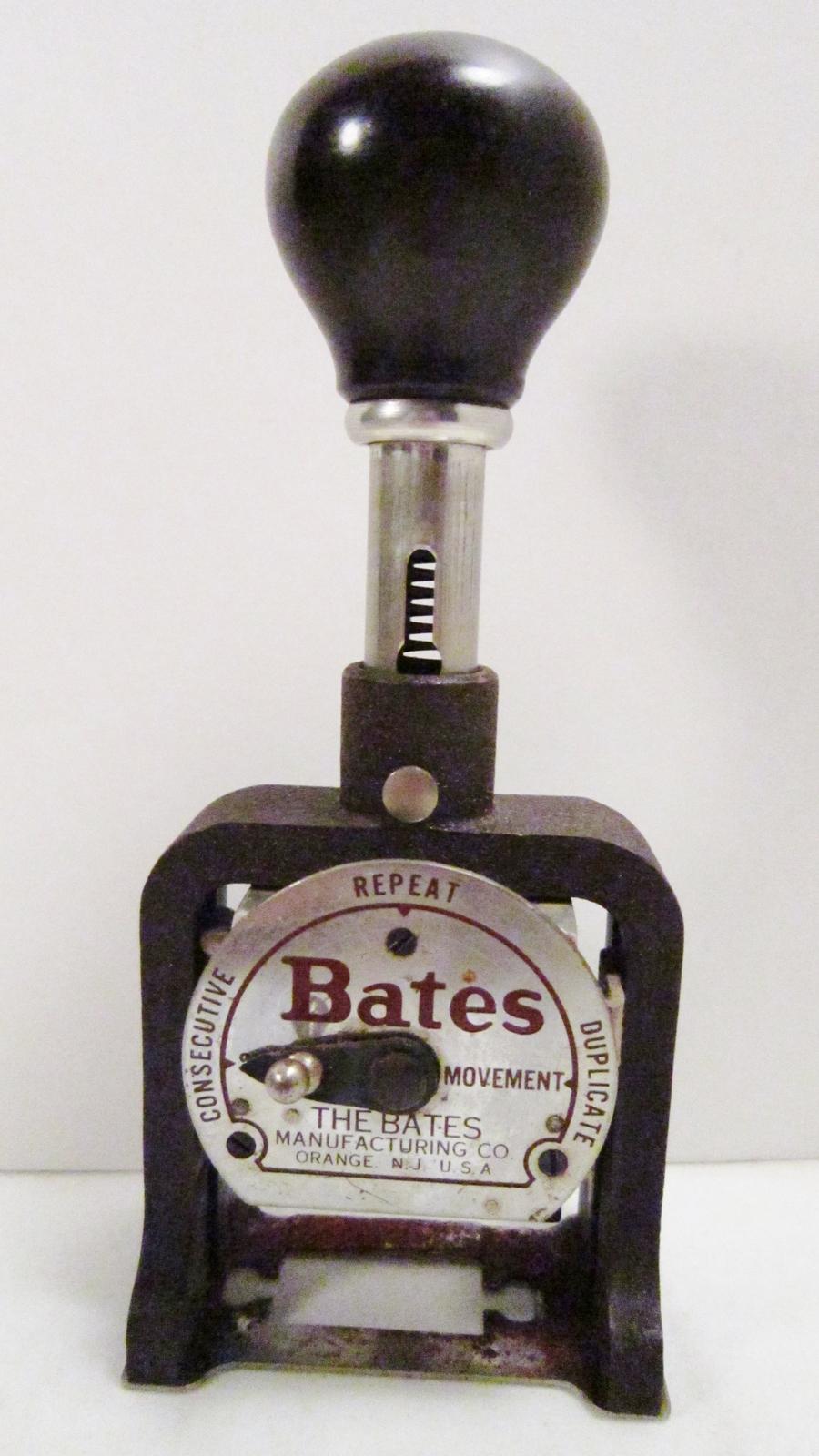 bates numbering machine