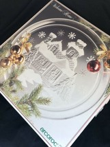 "D'Arques Arcoroc France Crystal Glassware ""Welcome Home"" 13"" Platter Chr... - $14.85"